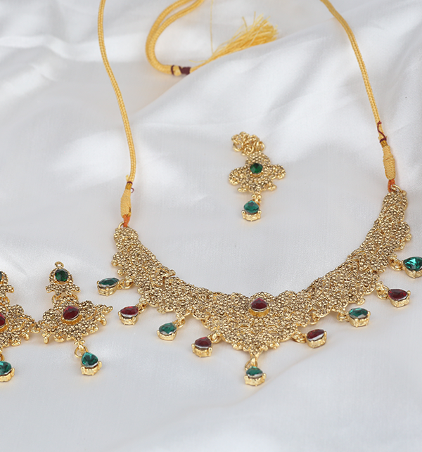 Multi Color Jewellery Set For Girls (PS-293) Gallery Image 1