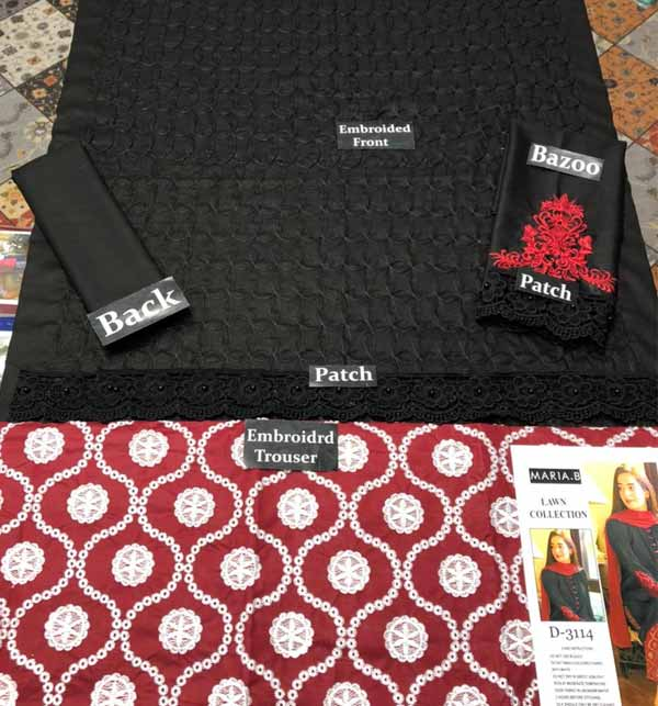 Stylish Lawn Full Heavy Embroidered Suit EMB Trouser (DRL-722) Gallery Image 1