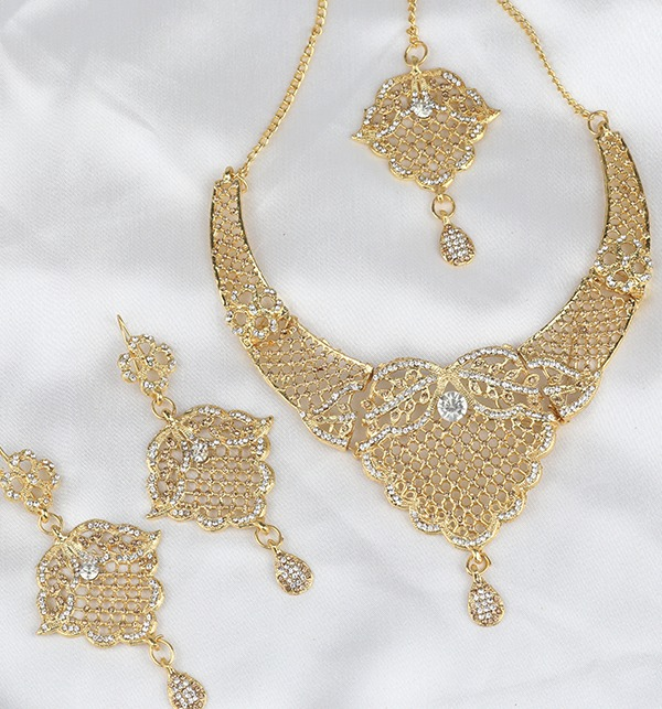 Beautiful Zircon Jewelry Set Earing With MathaPati (PS-296) Gallery Image 2