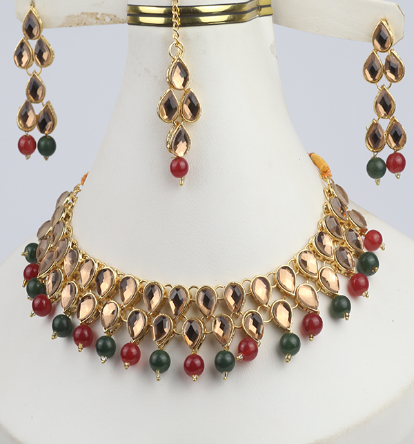 Party Jewelry Set For Girls Latest Design Necklace 2021 (PS-302) Gallery Image 1