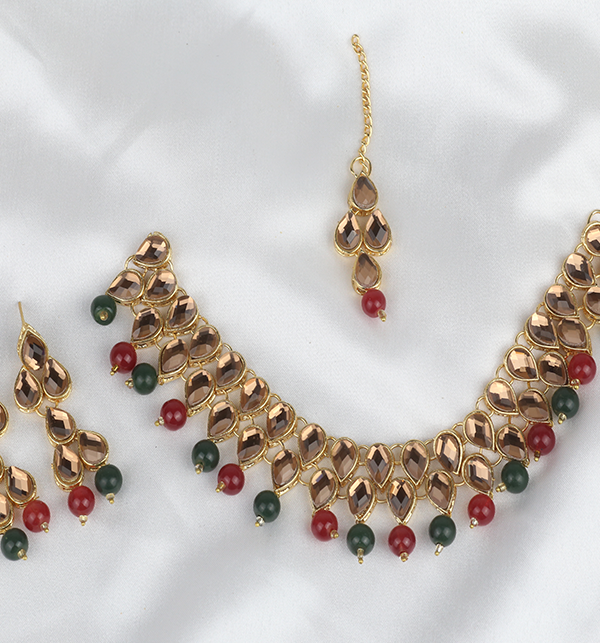 Party Jewelry Set For Girls Latest Design Necklace 2021 (PS-302) Gallery Image 2