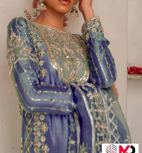 Masoori Embroidered Suit With Net Embroidery Dupatta  (CHI-444) Gallery Image 1