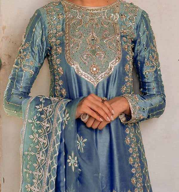 Masoori Embroidered Suit With Net Embroidery Dupatta  (CHI-444) Gallery Image 2