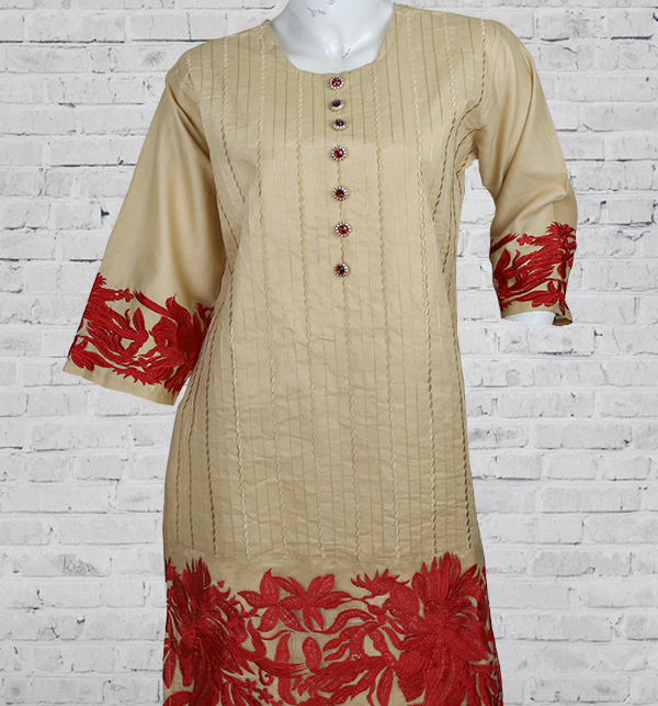Stitched Lawn Heavy Full Embroidered Dress 2-Pcs Stitched  Suit 2021 (DRL-732) Gallery Image 2