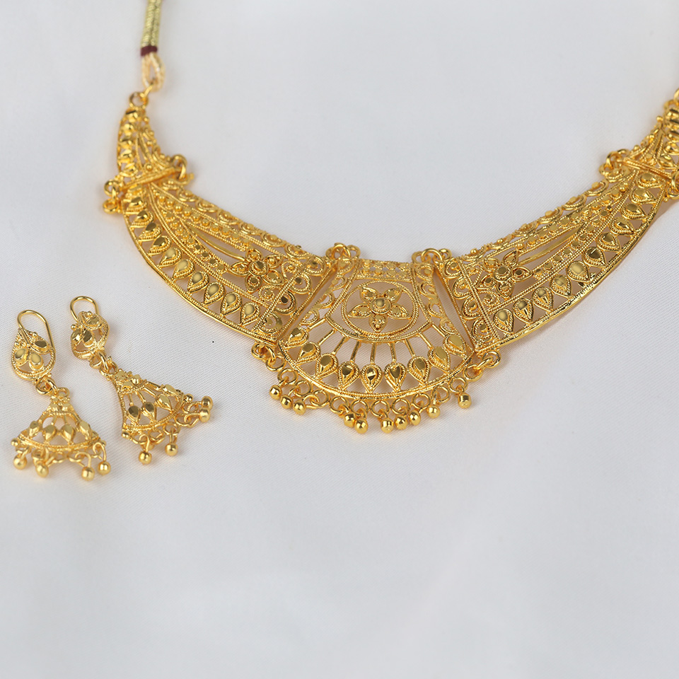 Golden Indian Artificial Jewellery Sets Design 2021 (PS-316) Gallery Image 1