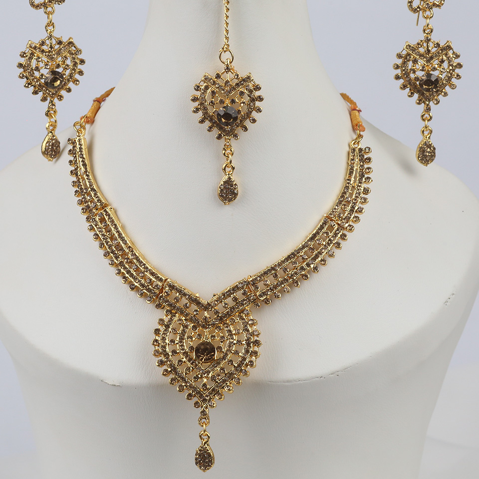 Golden Indian Jewelry Set For Girls (PS-327) Gallery Image 1