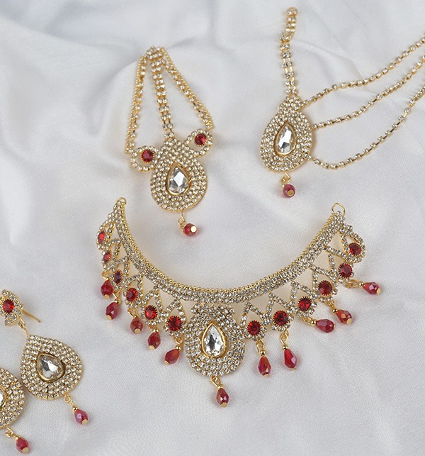 Bridal Jewelry Set With Earring Matha Patti For Dulhan (PS-332) Gallery Image 1