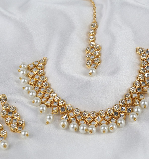 Golden And Pearl Jewelry Sets 2021 (PS-333) Gallery Image 1
