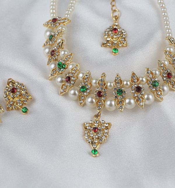 Multi Color Golden And Pearl Jewelry Sets 2021 (PS-334) Gallery Image 1