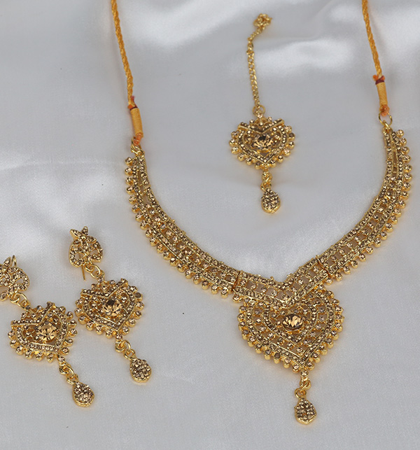 Golden Artificial Jewelry Set  (PS-336) Gallery Image 1