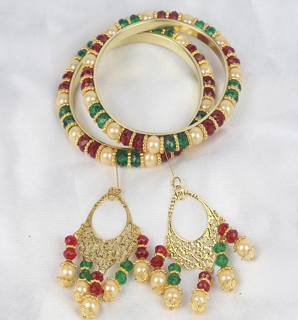 Multicolor 4 Bangles With Tassels For Girls (BH-52) Gallery Image 1