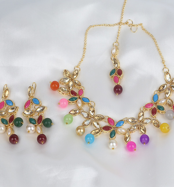 Stylish Multi Color neacklace Set For Women (PS-345) Gallery Image 1