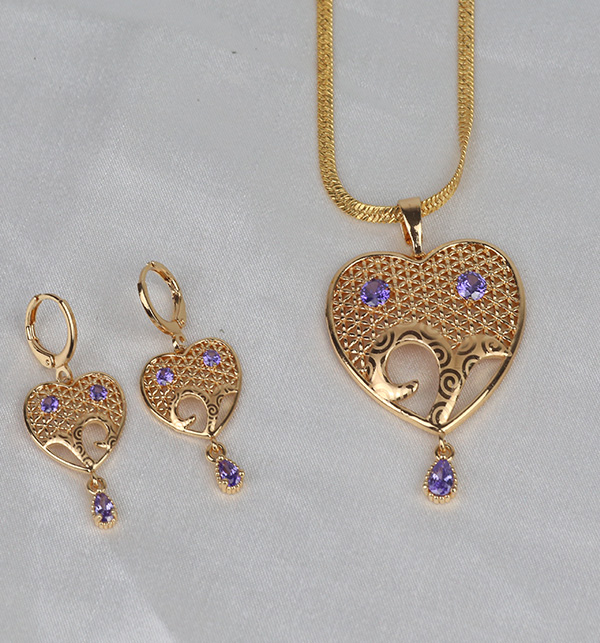 Beautiful Heart Locket Set With Earring (PS-358) Gallery Image 1