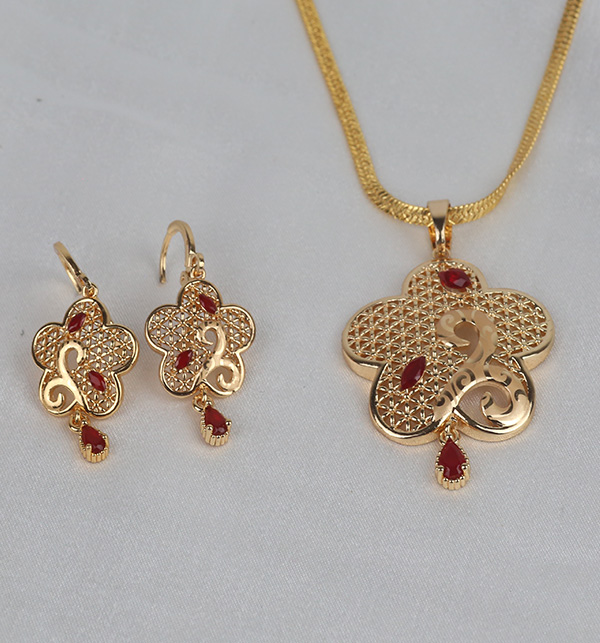 Locket Set With Earing  For Women (PS-359) Gallery Image 1