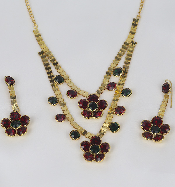 Latest Golden Jewelry Set Design For Women (PS-364) Gallery Image 1