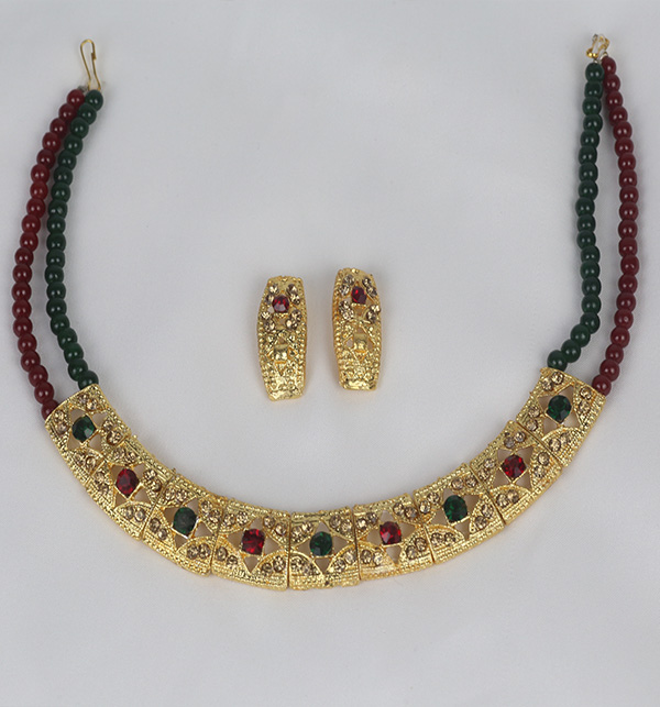 Multi Color Golden Jewelry Set Design For Women (PS-367) Gallery Image 1