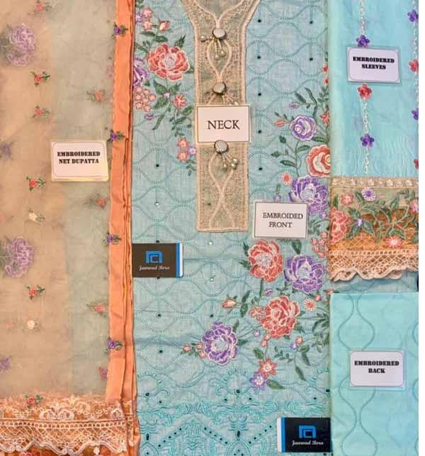Eid Heavy Schiffli Lawn 2021 With Net Heavy Embroidered Duptta (DRL-794) Gallery Image 1