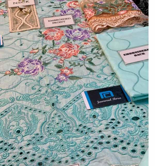 Eid Heavy Schiffli Lawn 2021 With Net Heavy Embroidered Duptta (DRL-794) Gallery Image 2