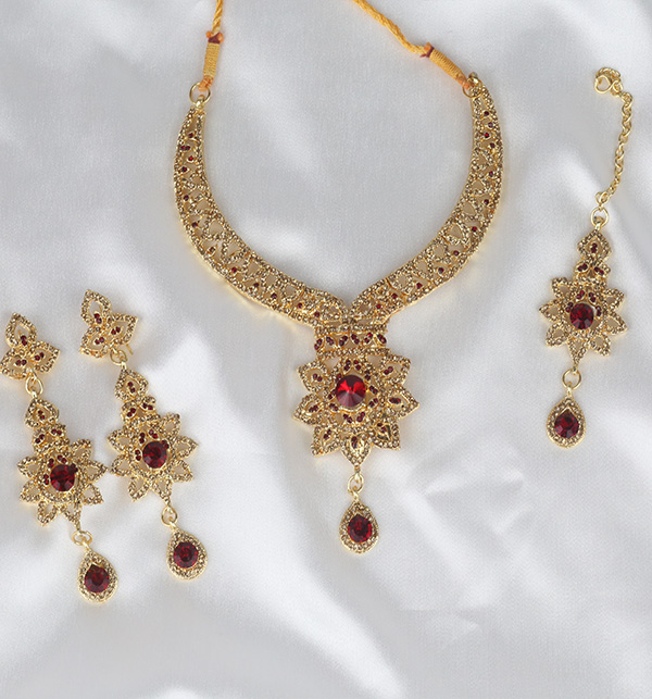 Golden Artificial Jewellery Sets  (PS-368) Gallery Image 1