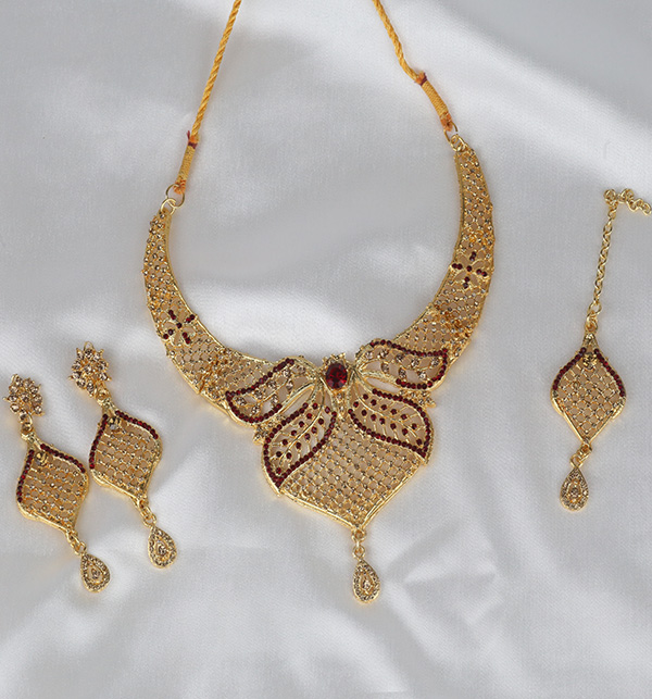 Golden Artificial Jewellery Sets (PS-369) Gallery Image 1