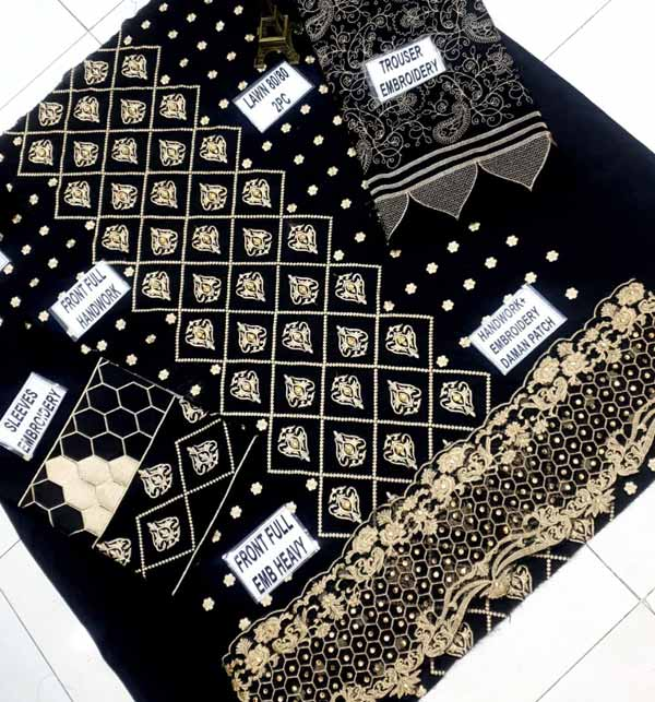 Lawn Sequence Heavy Embroidery Suit Emb Trouser (DRL-812) Gallery Image 2