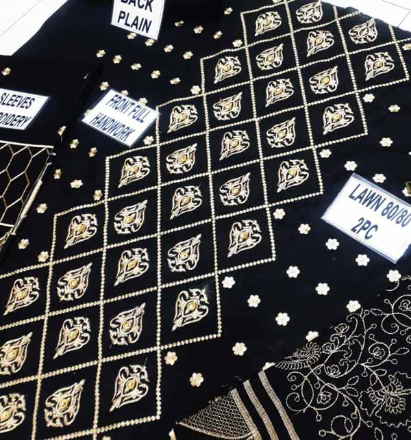 Lawn Sequence Heavy Embroidery Suit Emb Trouser (DRL-812) Gallery Image 3
