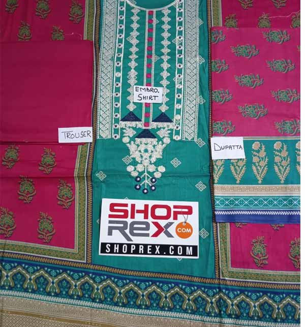 Ramzan Sale Pack OF 3 Lawn Suit Unsitched (DRL-806) , (DRL-780) & (20-120B) Gallery Image 2