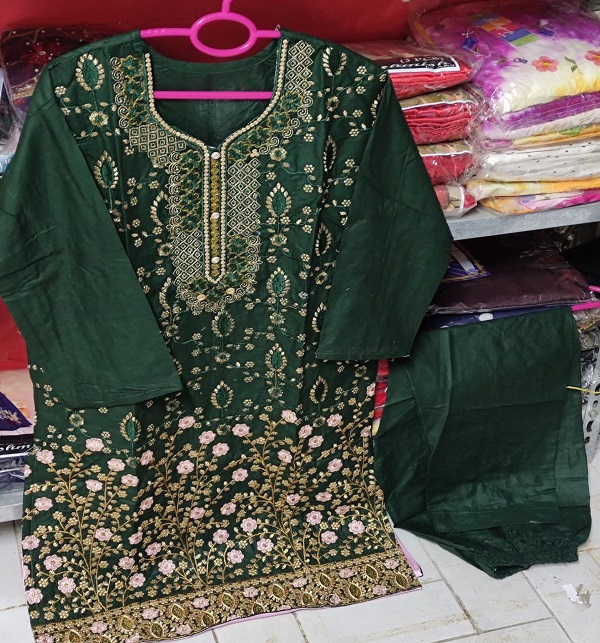 Stitched Cotton Heavy Embroidery Suit (DRL-837) Gallery Image 1