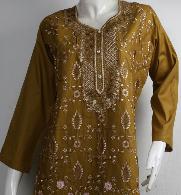 Cotton Stitched Heavy Embroidery Suit (DRL-838) Gallery Image 1