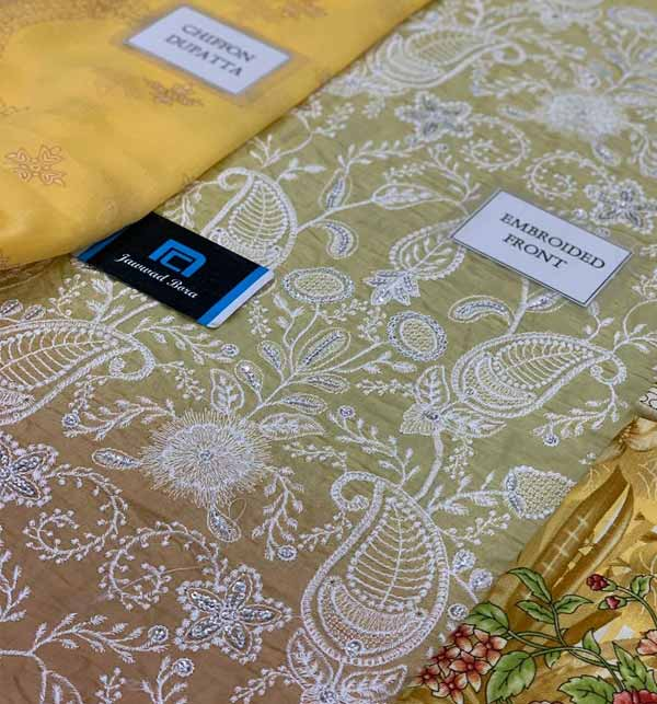 Luxury Heavy Embroidered schiffli Lawn Suit With Chiffon Printed Dupatta (DRL-849) Gallery Image 2