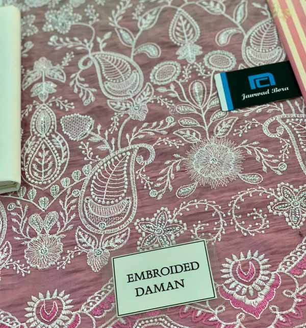 Luxury Schiffli Heavy Embroidered Lawn Suit With Chiffon Printed Dupatta (DRL-850) Gallery Image 2