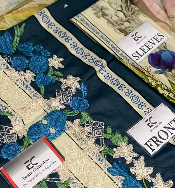 Luxury Lawn Collection With Printed Chiffon Dupatta (DRL-897) Gallery Image 1