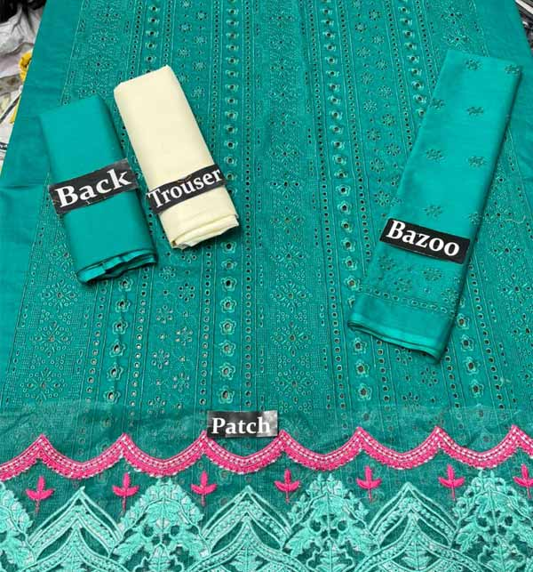 Chikankari Lawn Heavy Full Embroidery Suit (2 Pieces)  (DRL-924) Gallery Image 1