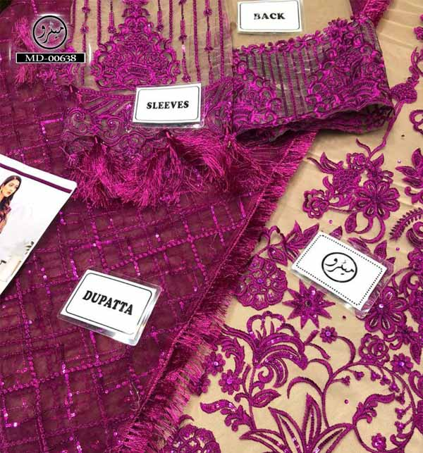 Heavy Embroidered NET Suit With Net Heavy Dupatta (CHI-468) Gallery Image 1