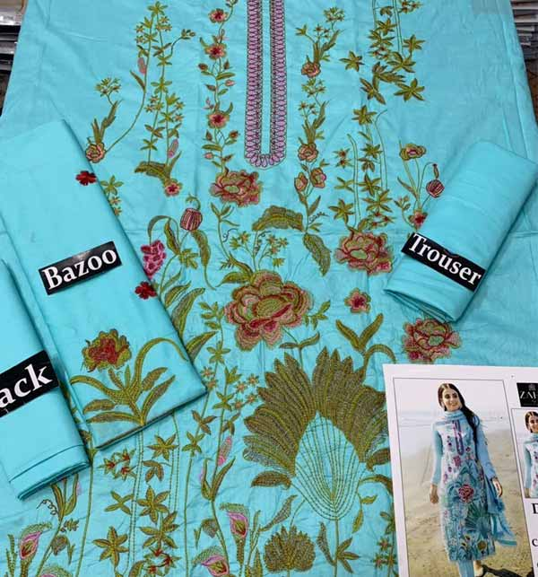 2 Pieces Lawn Embroidered Suit (Unsicthed)  (DRL-927) Gallery Image 1