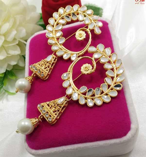 Pearl Earrings Design  (JL-37) Gallery Image 1