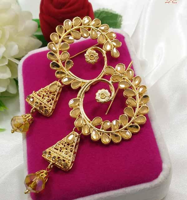 Golden Pearl Earrings  (JL-38) Gallery Image 1
