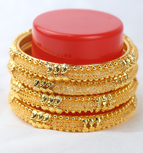 Beautiful Golden Bangle Set for Women (BH-68)  Gallery Image 1