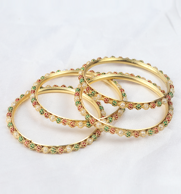 Multicolor Bangles for Girls (BH-71) Gallery Image 4