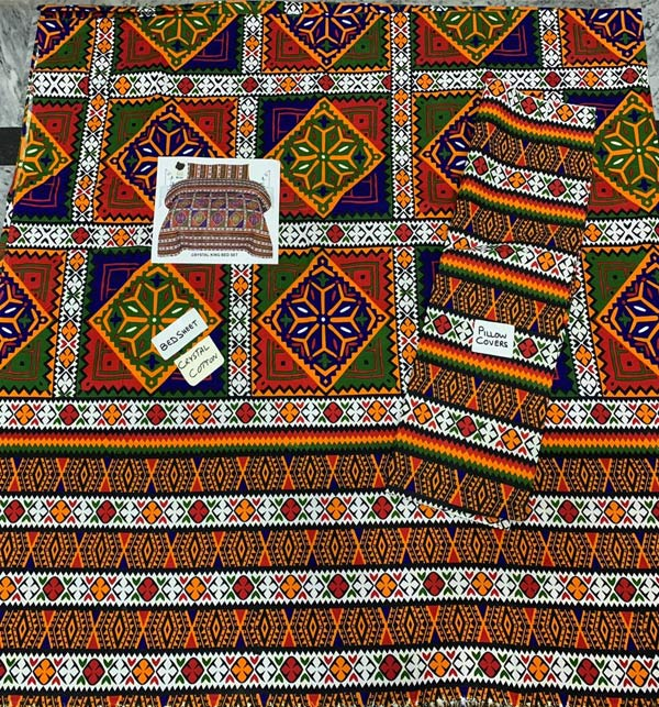 Crystal Cotton King Size  Bed Sheet (BCP-63) Gallery Image 1