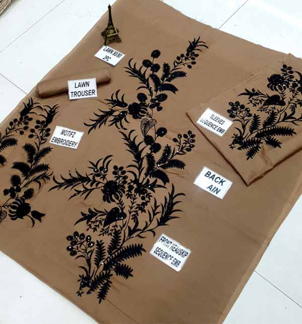 Linen SEQUENCE Embroidered 2PC (Unstitched) (LN-224) Gallery Image 2