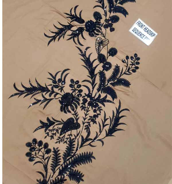 Linen SEQUENCE Embroidered 2PC (Unstitched) (LN-224) Gallery Image 3