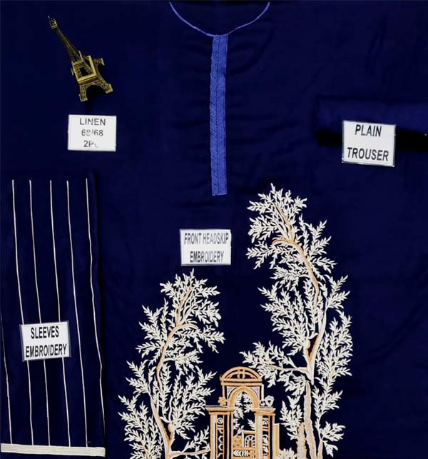 LINEN 2 Pieces Beautiful Embroidered Suit (Unsicthed) (LN-231) Gallery Image 1