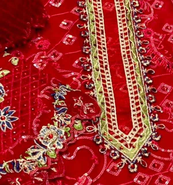 Chiffon Handwork Heavy Embroidered Dress With Embroidered Dupatta (CHI-500) Gallery Image 2