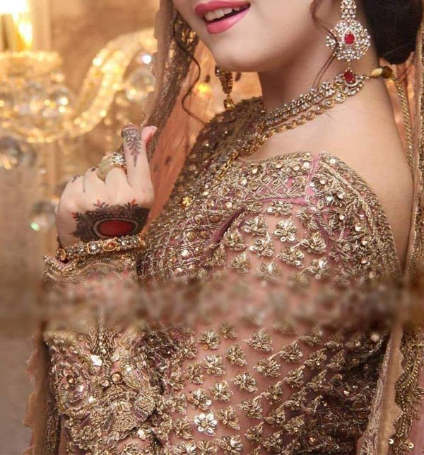 NET Bridal Embroidered Hand Work MAXI with NET Embroidery Dupatta (CHI-501) Gallery Image 2
