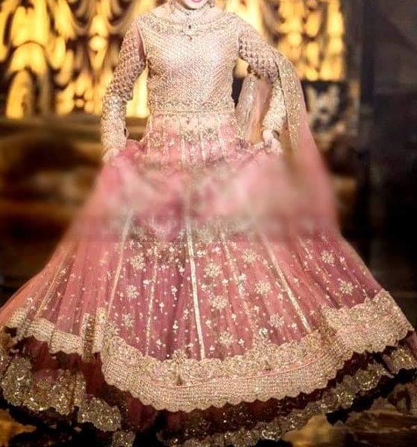 NET Bridal Embroidered Hand Work MAXI with NET Embroidery Dupatta (CHI-501) Gallery Image 3