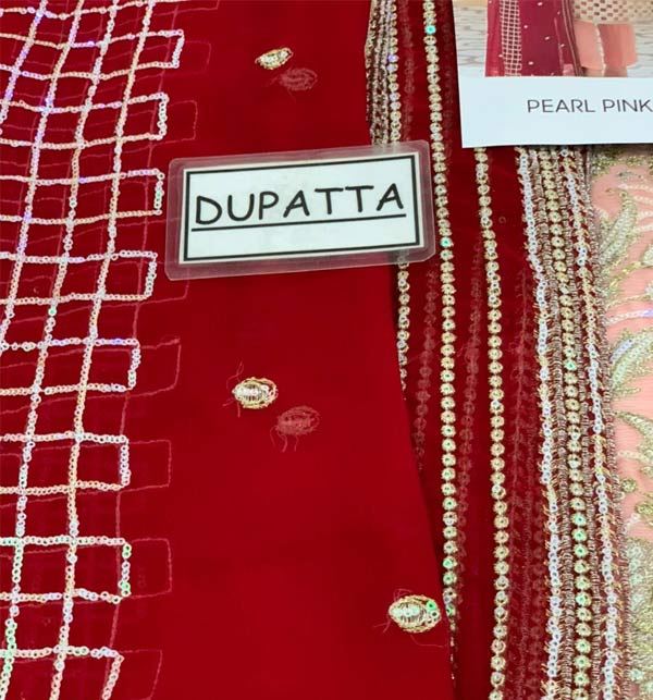 Fancy Chiffon Heavy Embroidered Dress With Chiffon Duppata (CHI-505) Gallery Image 2