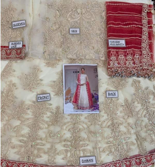 New Embroidered Chiffon Dress With Chiffon Net Dupatta (CHI-506) Gallery Image 1