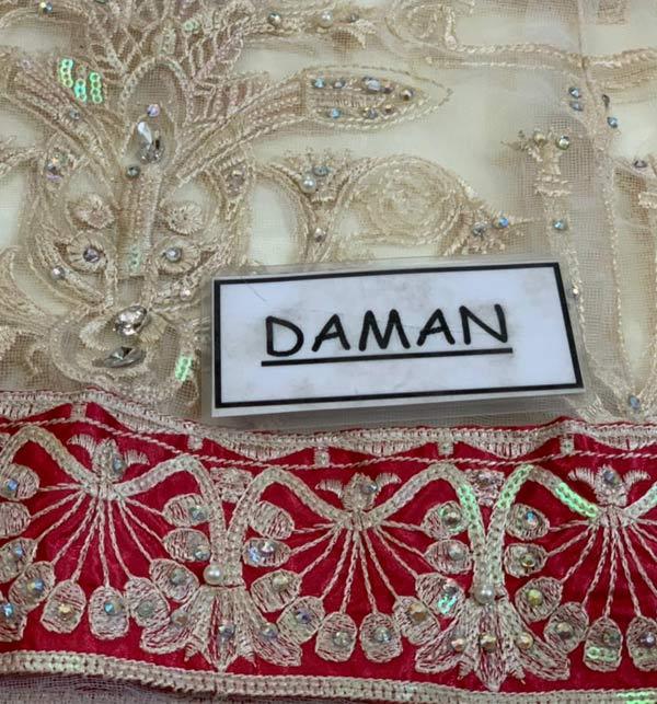 New Embroidered Chiffon Dress With Chiffon Net Dupatta (CHI-506) Gallery Image 3