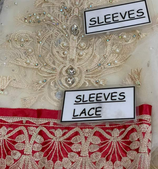 New Embroidered Chiffon Dress With Chiffon Net Dupatta (CHI-506) Gallery Image 4